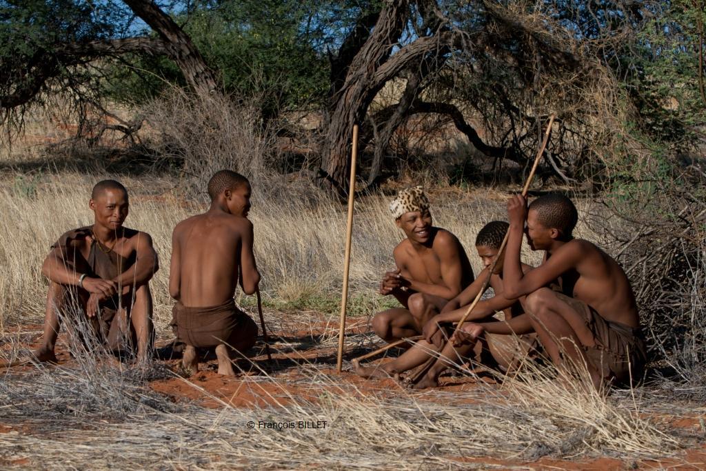 Bushman - Désert du Kalahari - Namibie